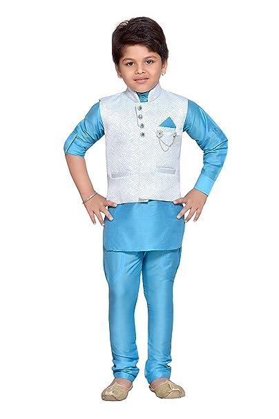 Amazon.com: Aj dezines niños Set de chaleco de pijama Kurta ...