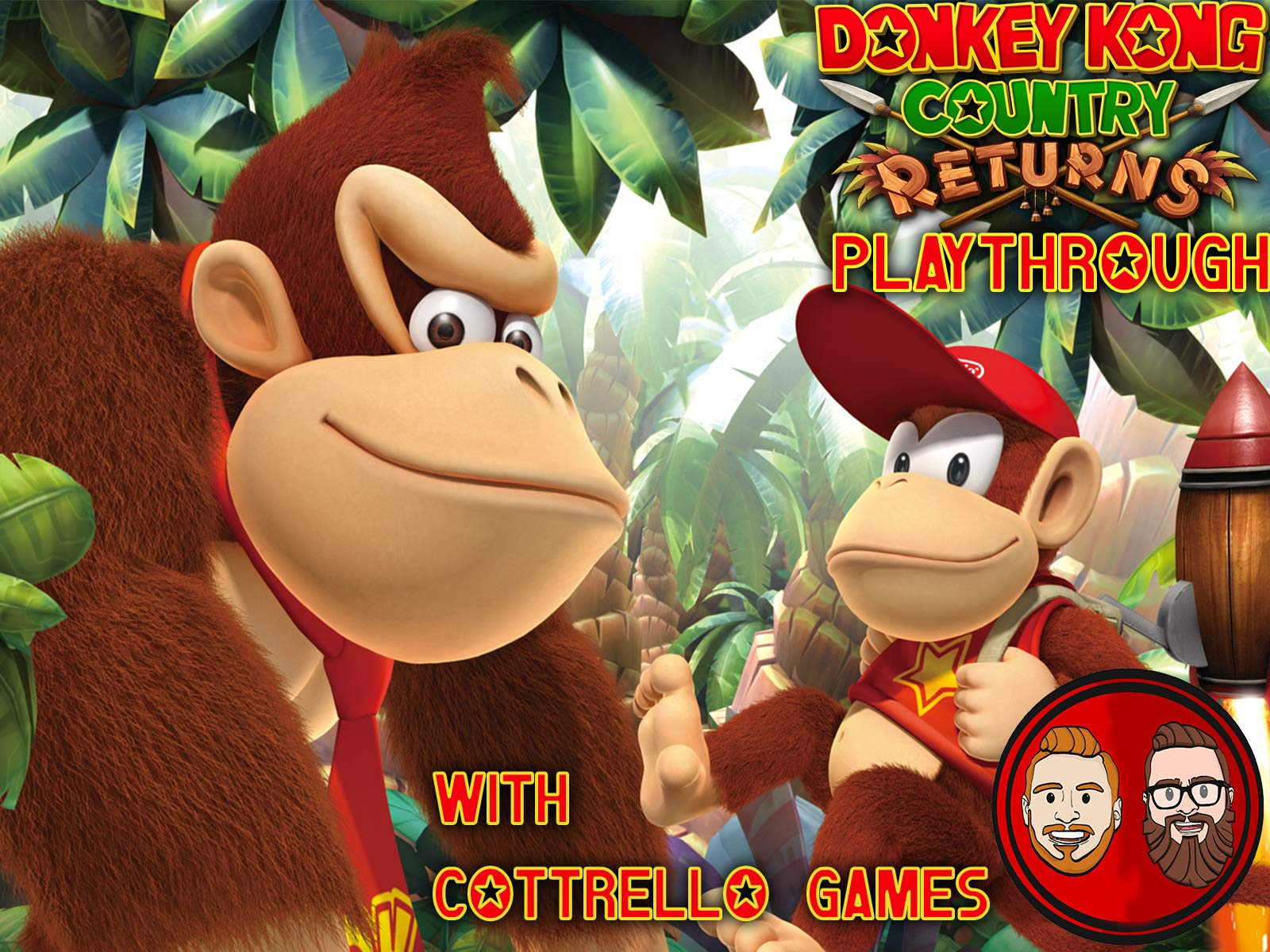 Donkey Kong Country Returns Multiplayer Playthrough with Cottrello Games