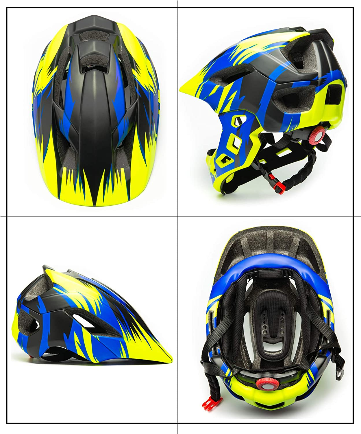 Natuway Kids Bicycle Helmet Detachable Full face Helmet for Cycling Scooter Skateboard BMX Bike Roller-Skate Protective Gear