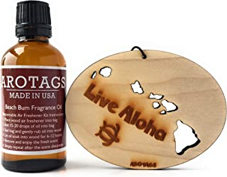 product image for Arotags Hawaii Car Air Freshener & Backwoods Birch Fragrance Oil Diffuser. Lasts 365+ Days. 100% Made in U.S.A.