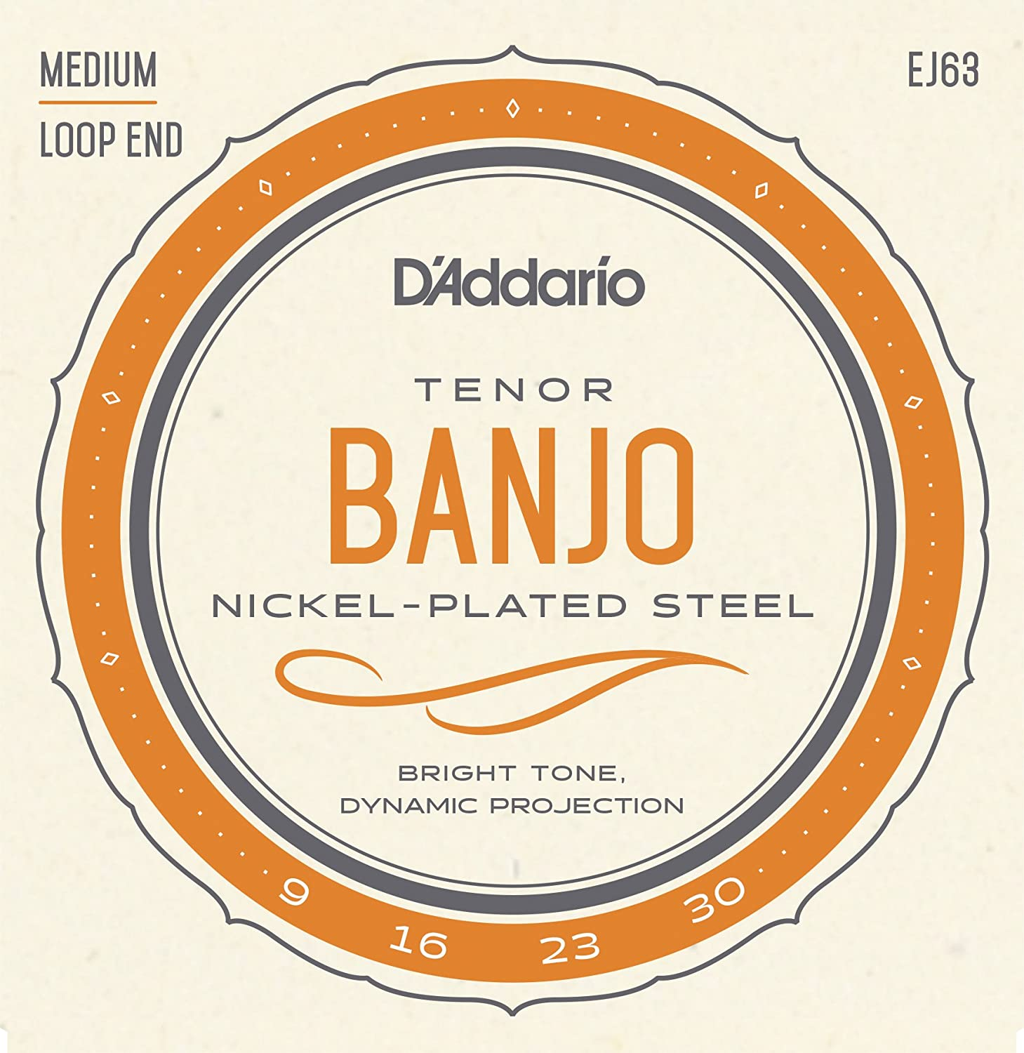 D'Addario EJ63 Nickel Tenor Banjo Strings, 9-30 D' Addario
