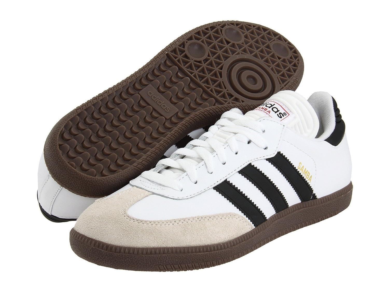 (アディダス) adidas メンズサッカーシューズインドア靴 Samba Classic Running White/Black 13.5 (31.5cm) D Medium B07BQKHPFX