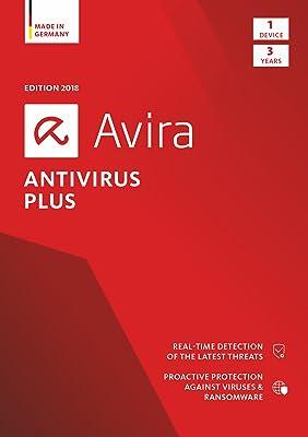 Avira Antivirus Plus 2018 | 1 Device | 3 Year | Download [Online Code]