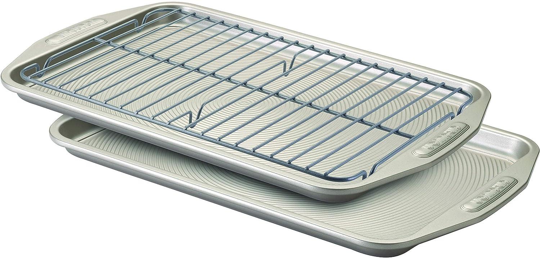 Circulon Nonstick Bakeware 3-Piece Bakeware Set, Gray (Renewed)