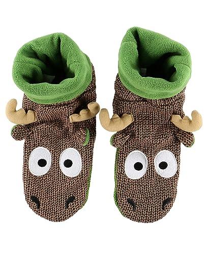 5667b80aa5e Lazy One LazyOne Unisex Moose Woodland Slippers  Amazon.co.uk  Clothing
