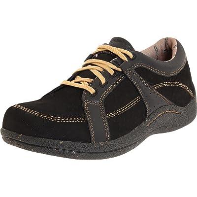 Drew Shoe Women's Geneva,Black Leather/Nubuck,10 EE US