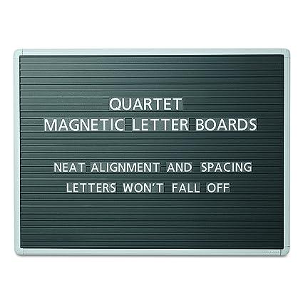 quartet qrt903m magnetic wall mount letter board 36 x 24 black gray aluminum