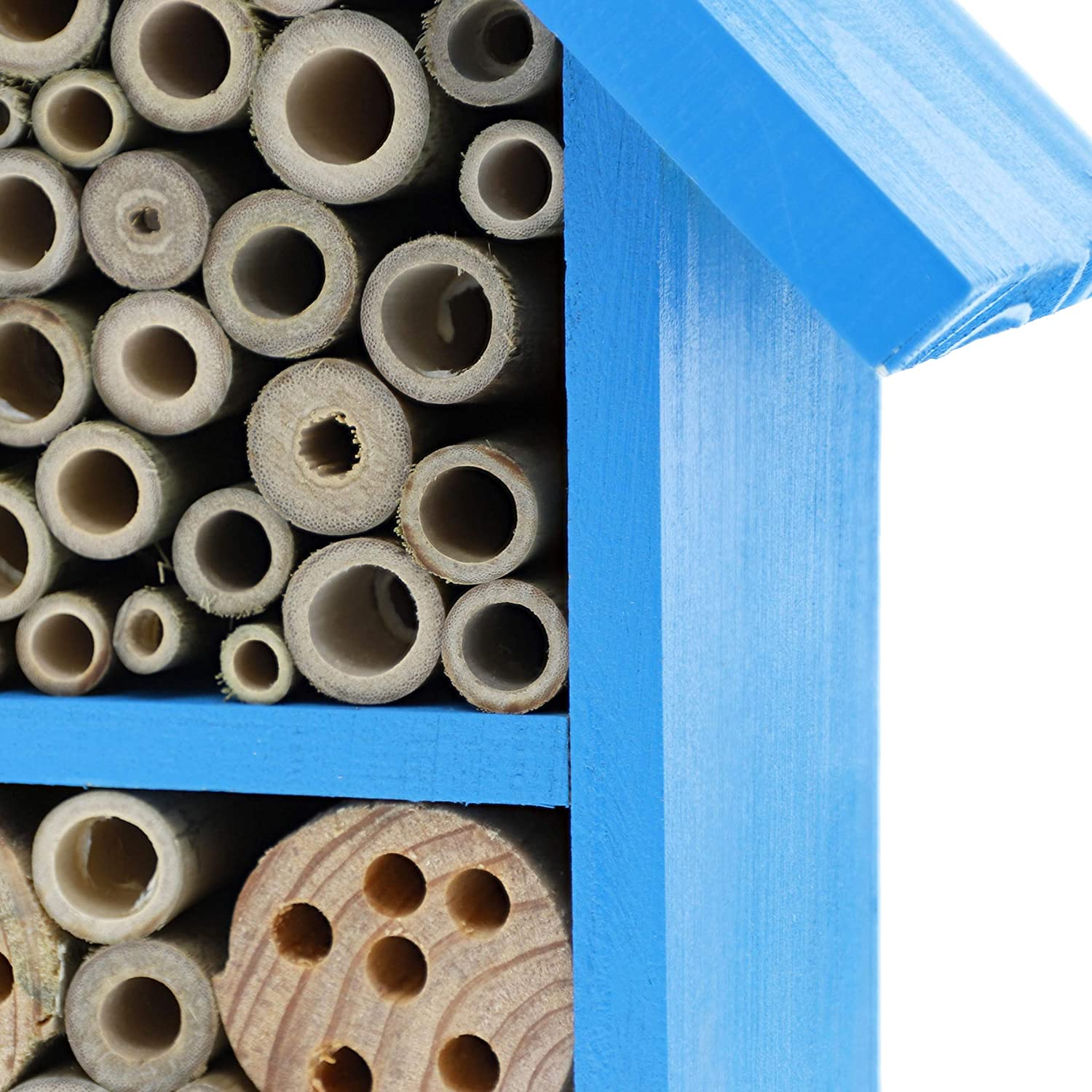 7.4 x 10.15 x 4.65 Inches Blue Mason House Hive Bee Houses for The Garden
