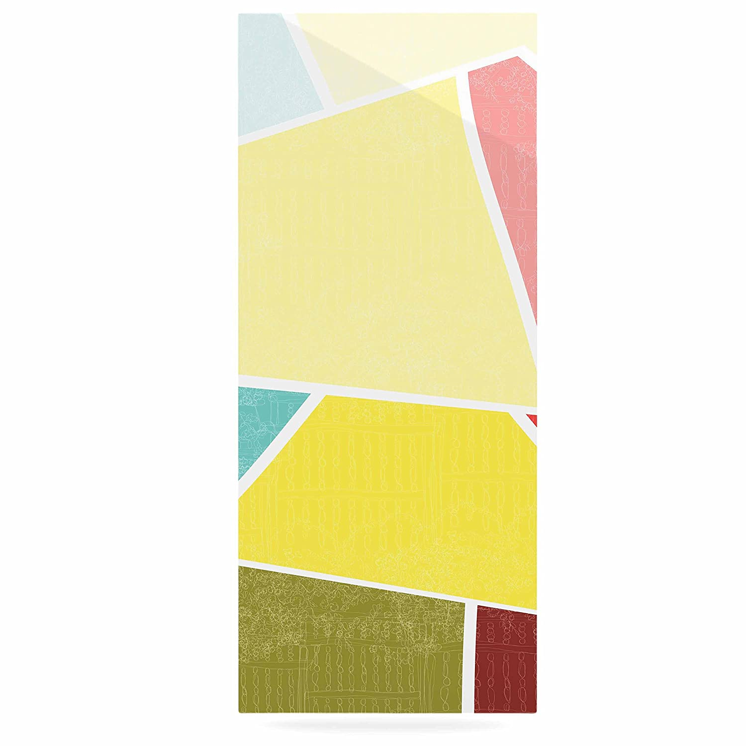 24 x 36 Kess InHouse MaJoBV Cartagena Balconies Teal Red Yellow Luxe Rectangle Panel