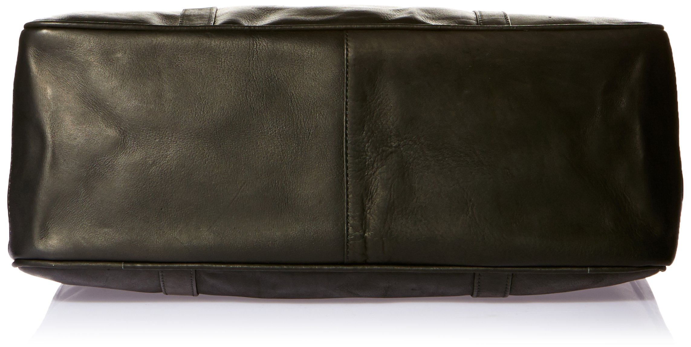 Piel Leather Large Shopping Bag, Black, One Size by Piel Leather (Image #4)