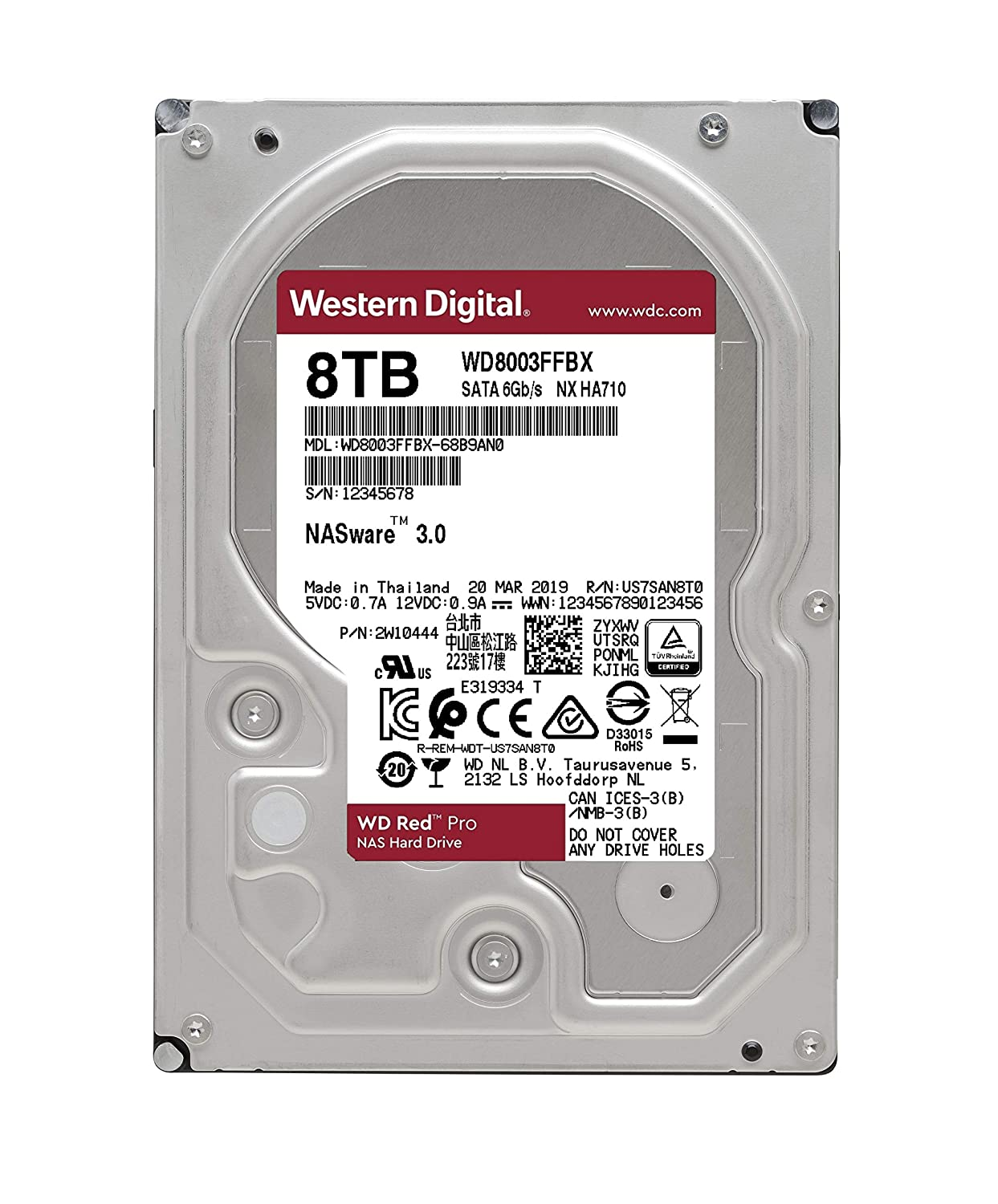Amazon.com: WD Red Pro 2TB NAS Hard Drive - 7200 RPM Class ...