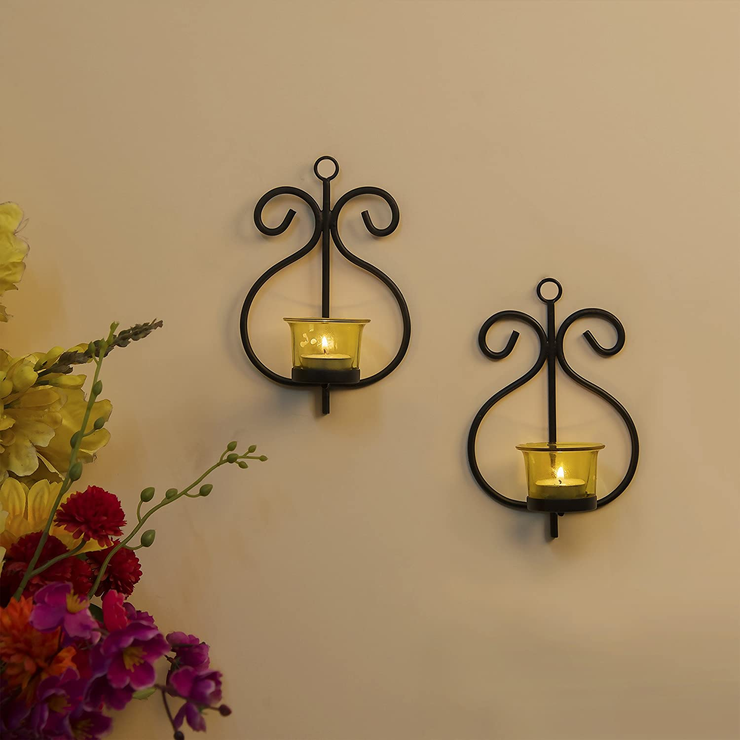 Buy Homesake Set Of 2 Decorative Wall Sconcecandle Holder With