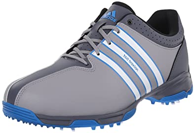 Affordable Mens Golf Shoes - Adidas 360 Traxion Nwp Light Onix/Ftwr White/Shock Blue