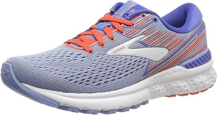 Brooks Adrenaline GTS 19 Sneakers Laufschuhe Damen Blau/Orange (Bel Air Blue/Coral/Silver)