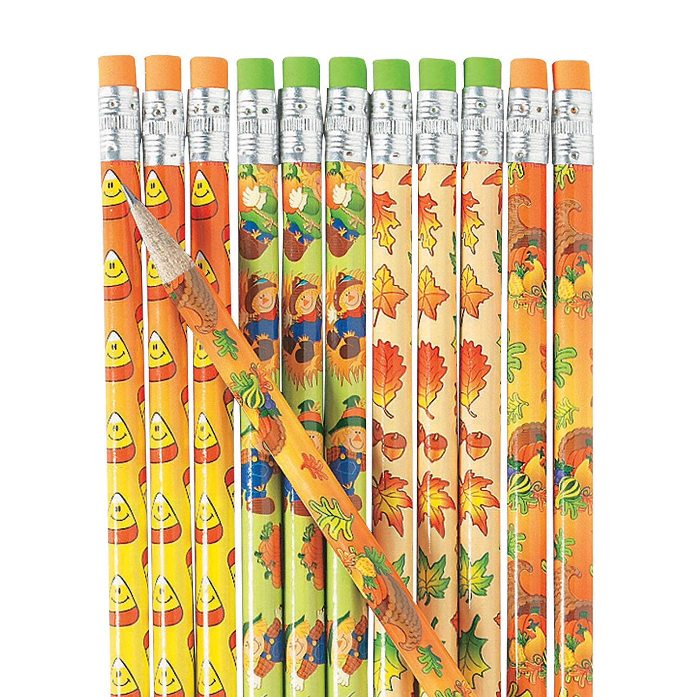 Fall Pencil Assortment (144 bulk pencil set) Fall Stationery by Fun Express