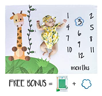 Amazon.com: Ebash - Manta de bebé con diseño de hito para ...