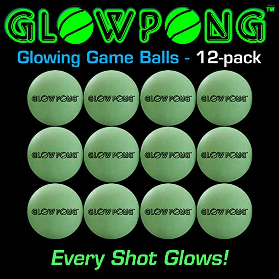 Amazon.com: glowpong Glowing Juego Bolas – 12-Pack: Toys & Games