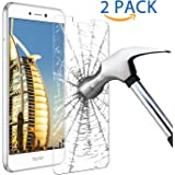 Huawei P8 Lite 2017 Screen Protector, Samione Huawei P8 Lite 2017 Tempered Glass [High Definition]Bubble Free 9H Hardness Screen Protector Film Guard Cover for Huawei P8 Lite 2017[2 Pack]