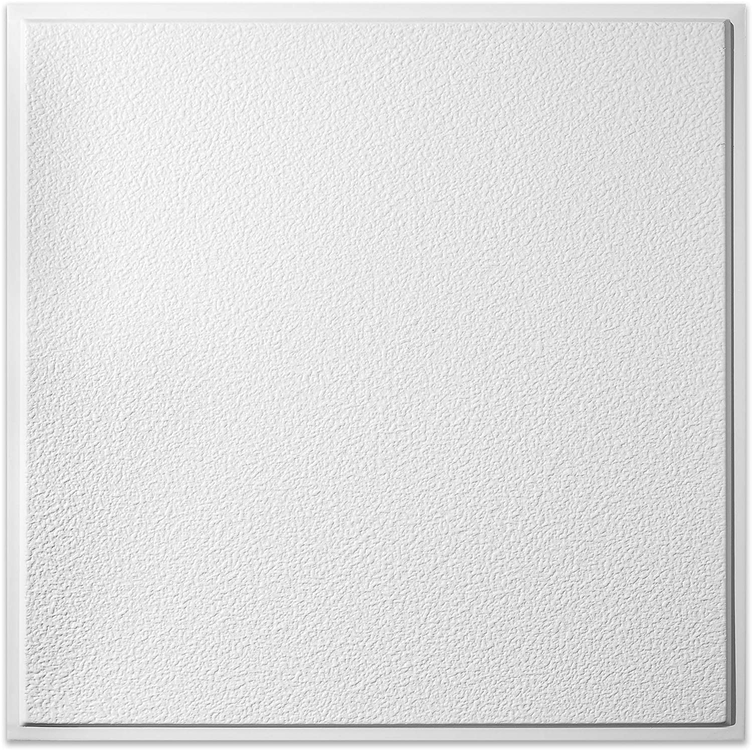 genesis white stucco pro revealed edge ceiling tiles easy drop in installation waterproof washable and fire rated high grade pvc to prevent