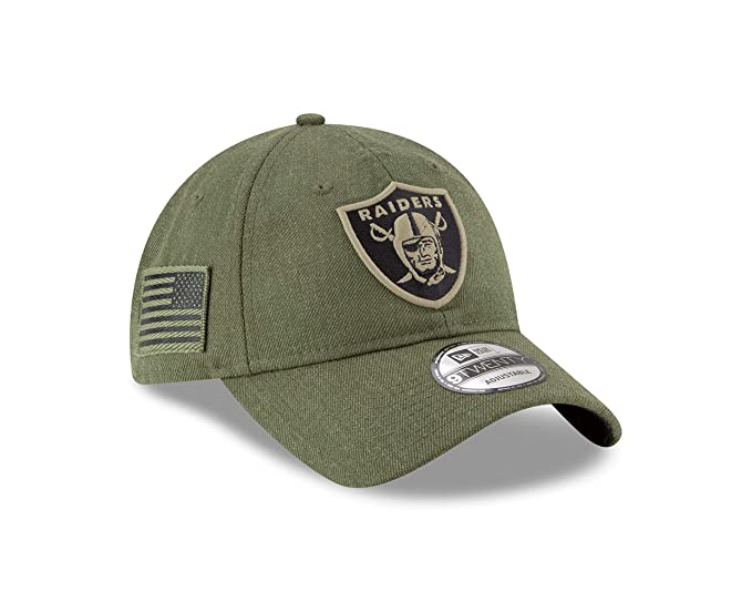 New Era Oakland Raiders 9twenty Adjustable Cap On Field 2018 Salute to  Service Green - One-Size  Amazon.co.uk  Clothing ff73f9482