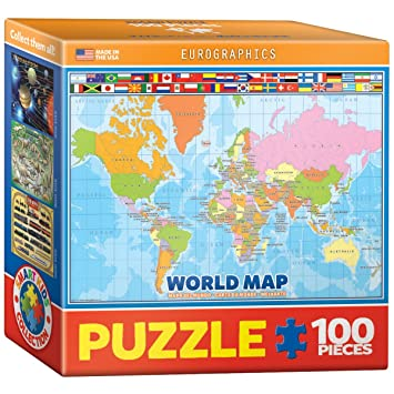 Eurographics world map for kids mini puzzle 100 piece amazon eurographics world map for kids mini puzzle 100 piece gumiabroncs Image collections