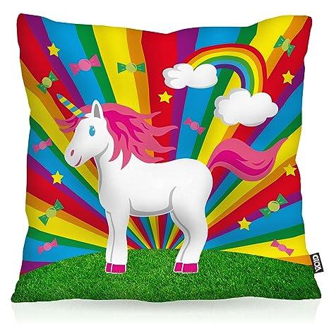 VOID Rainbow Star Unicorn Unicornio Cojín con Dibujo Funda ...