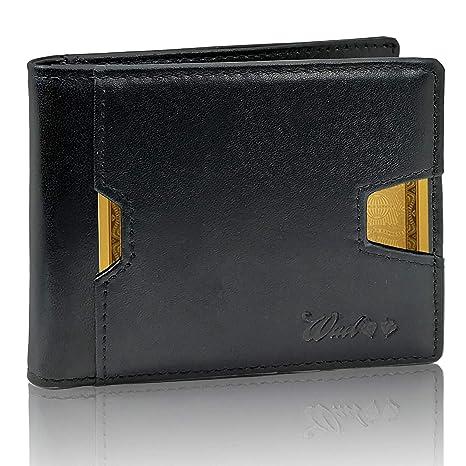 0e5fc71112 Portafoglio Uomo Piccolo Vera Pelle Intelligente Protezione RFID-NFC - 2A  Generazione - Artigianale 9