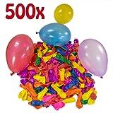 Belmalia 500 x Wasserbomben Mega-Pack Luftballons bunt Wasser Bomben Luft Ballon Wasserballon Set rot gelb lila blau orange pink grün Garten Spiel