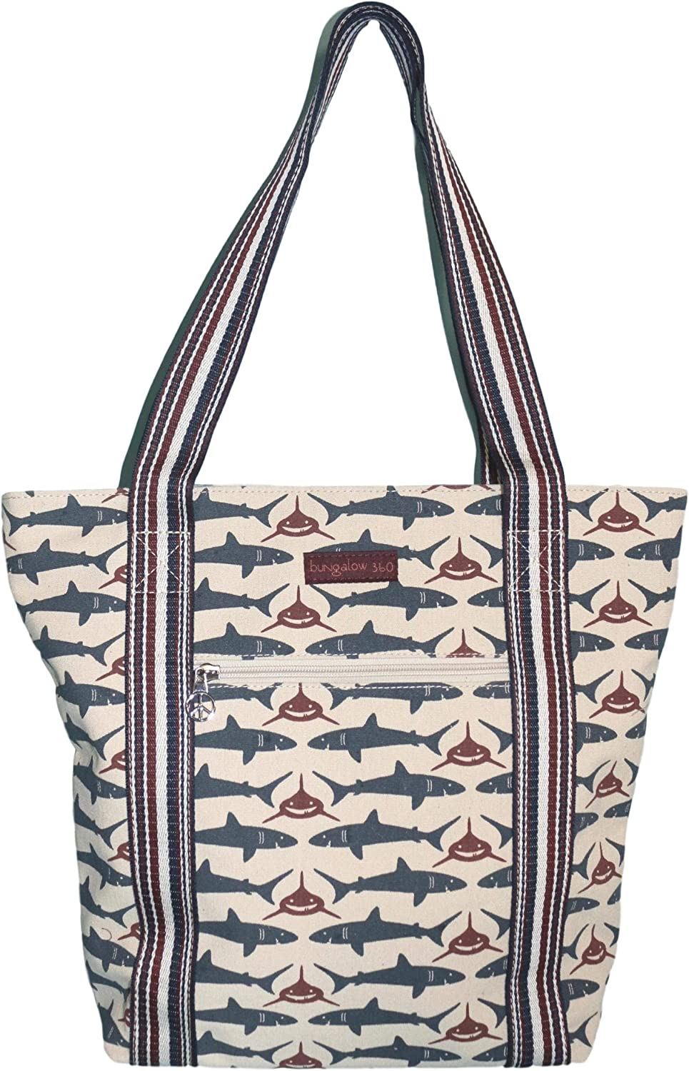 Bungalow 360 Vegan Striped Tote Bag