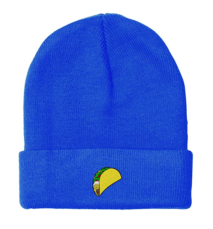 Amazon.com: owndis BNE Embroidered Taco Beanie for Men and Women Hat-EM-0017-Black: Clothing