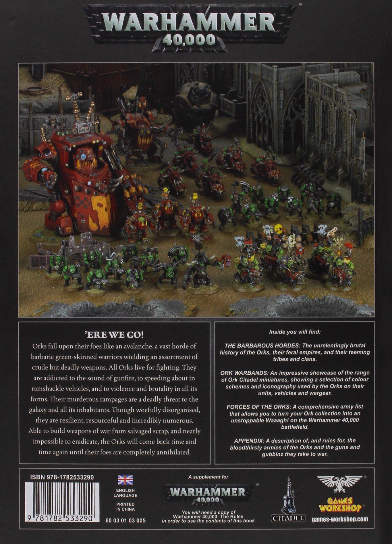 Codex orks english games workshop 9781782533290 amazon books fandeluxe Gallery