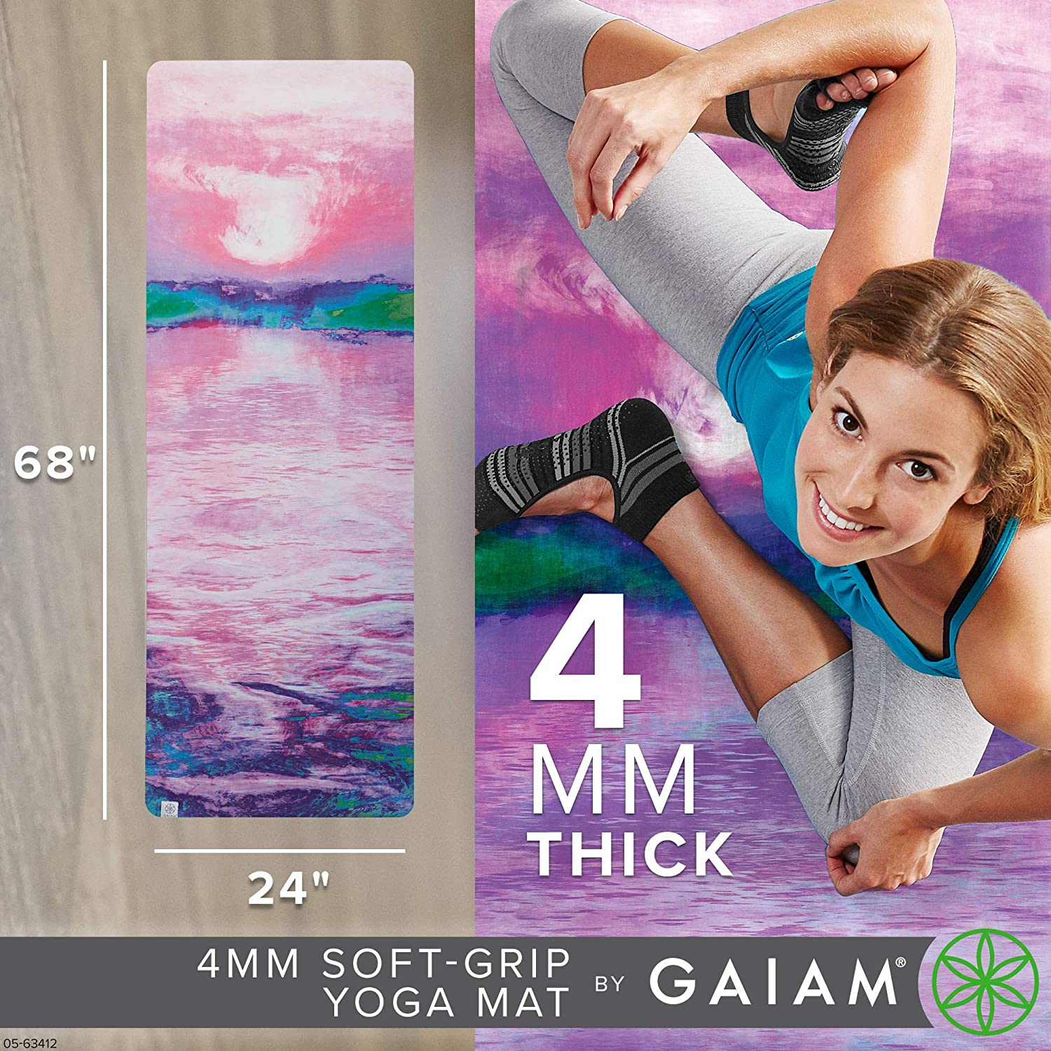 Gaiam Soft-Grip Yoga Mat