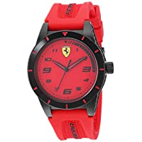 Boy's RedRev Quartz TR90 and Silicone Strap Casual Watch, Color: Red (Model: 860008)