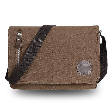 VENTCY Canvas Messenger Bag Mens Shoulder Bag Men Side Bag 13.3-14 Inch  Laptop Bag c26f863d8ea93
