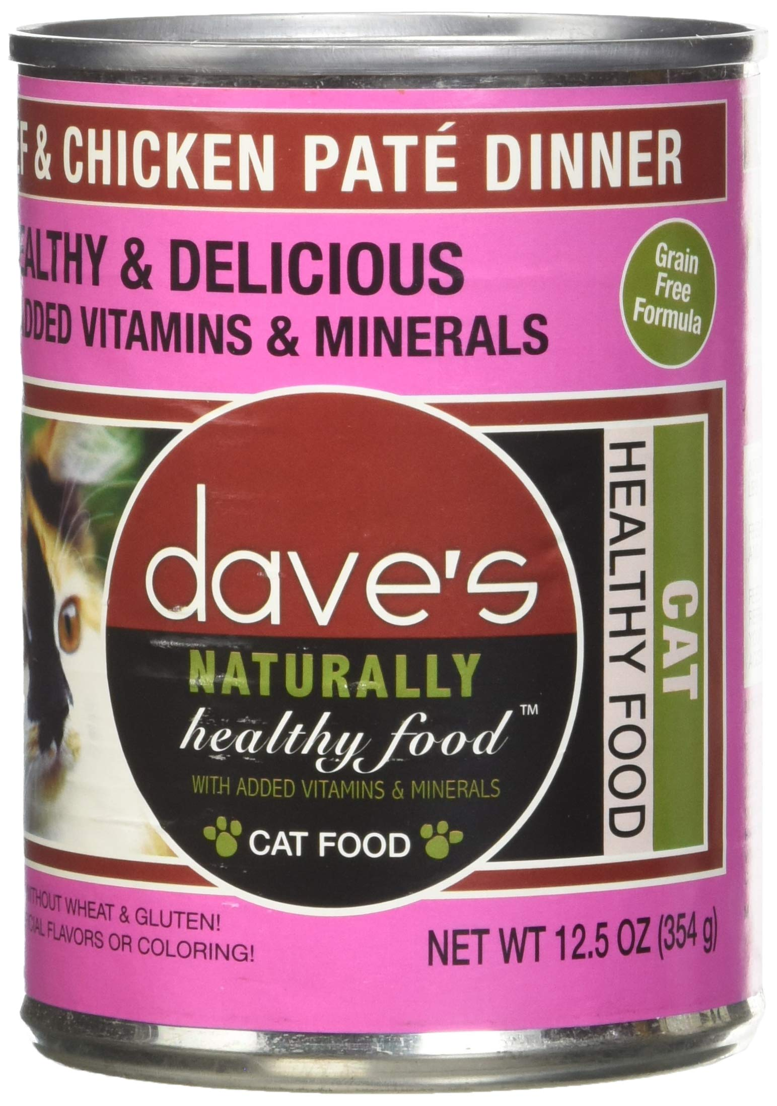 Dave'S Naturally Healthy Beef & Chicken For Cats, 12.5 Oz Can (Case Of 12 ) by Dave's Pet Food