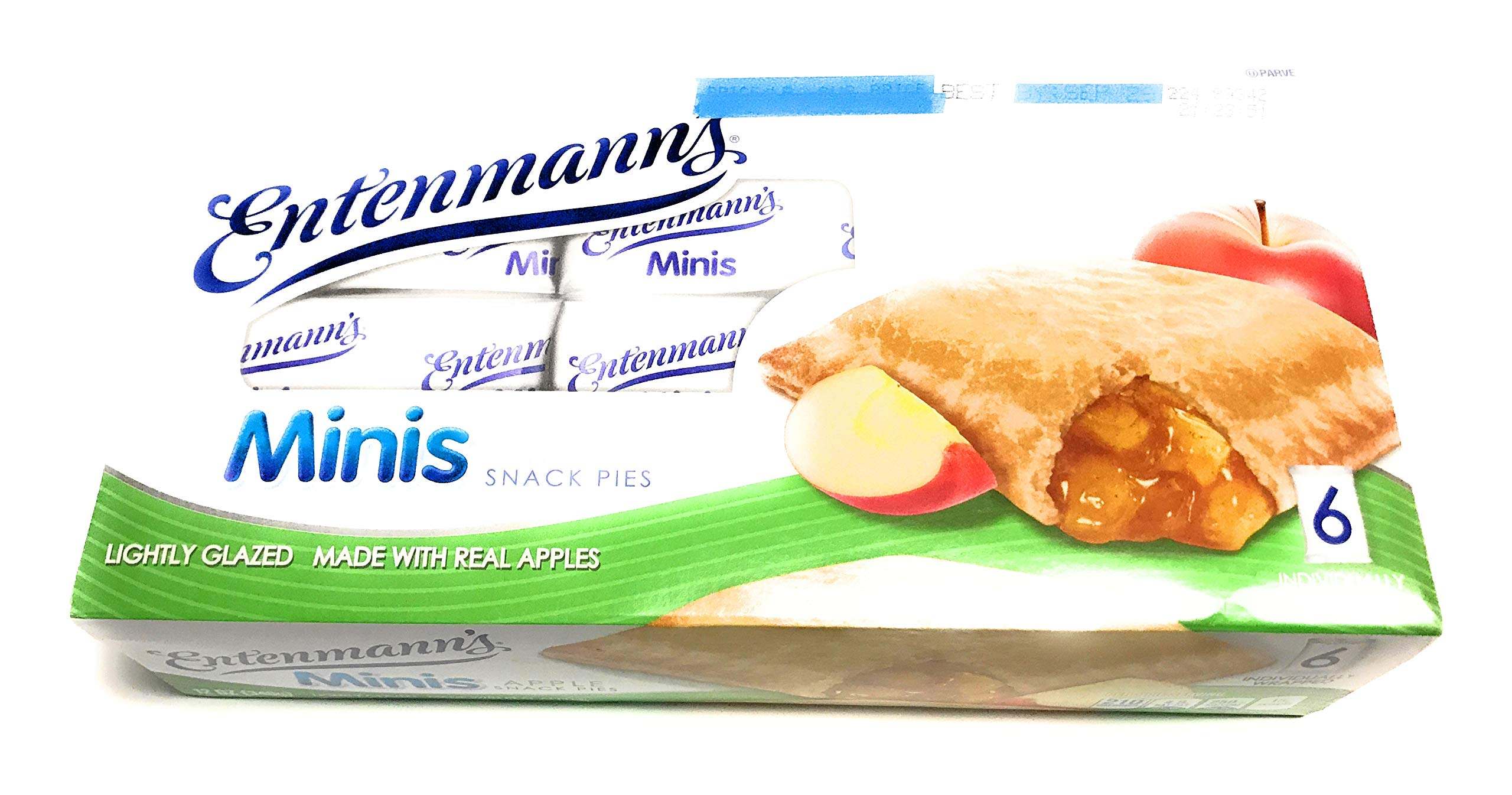 |Entenmann's |Minis Apple Snack Pies| Lightly Glazed |Delicious |Tasty| Yummy | 12 oz| 6 Individually Wrapped count | 1 Box | by Entenmann's