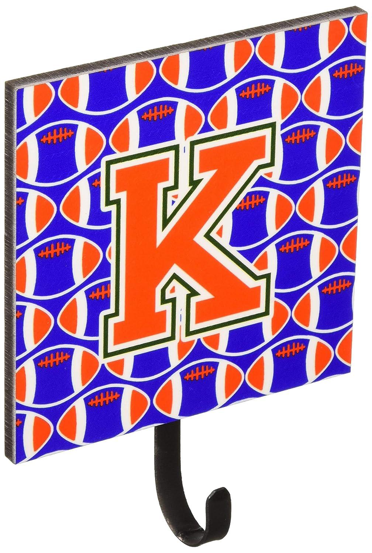 Blue and Orange Leash or Key Holder CJ1083-KSH4 Small Multicolor Carolines Treasures Letter K Football Green