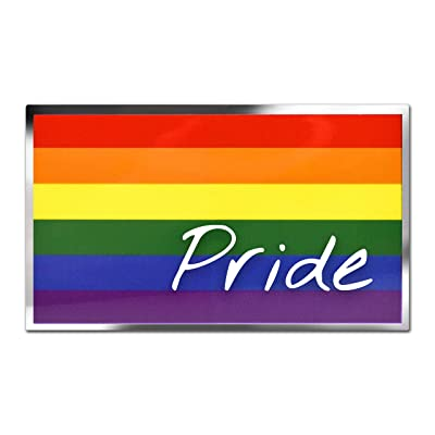 Rainbow Pride Flag Premium Decal: Automotive