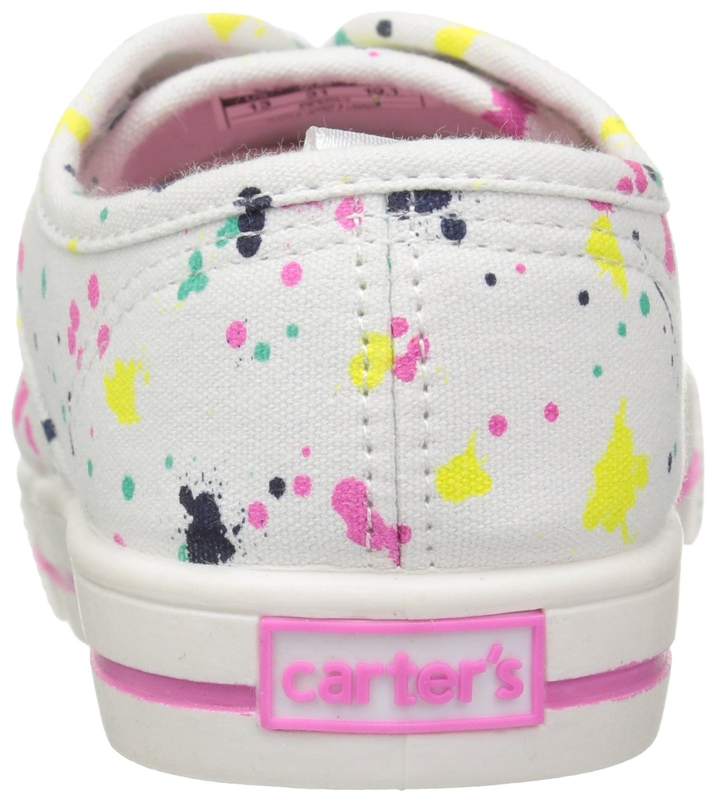 Carter's Piper Girl's Casual Sneaker, White/Print, 3 M US Little Kid by Carter's (Image #2)