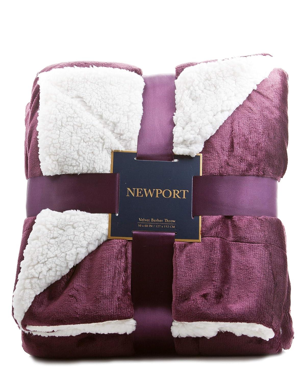 ReLive Reversible Velvet Luxury Berber Throw Blanket 50x60 Newport05