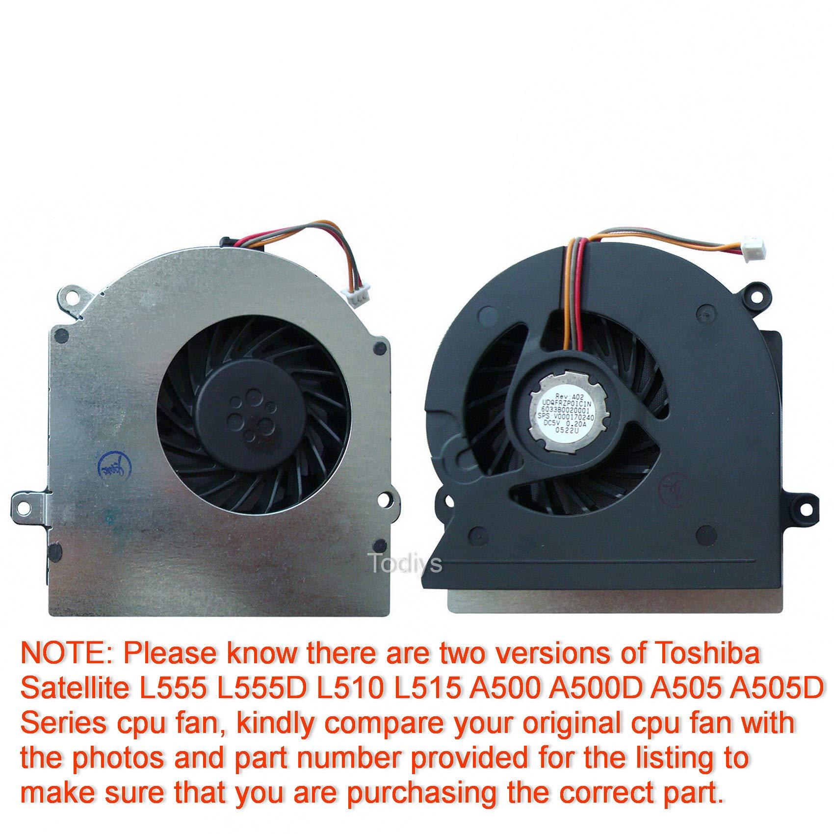Cooler Para Toshiba Satellite L555 L555d L510 L515 A500 A500d A505 A505d Series L555-10n L555d-s7005 L510-00y L515-s4960