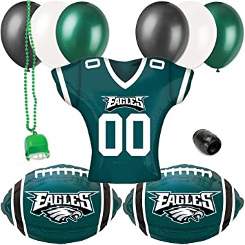 a53ba016c18 Image Unavailable. Image not available for. Color: Philadelphia Eagles  Jersey Football Party Decoration 10pc Balloon Pack
