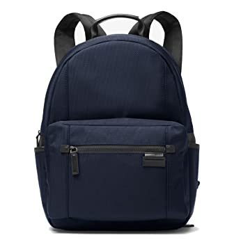 74aa9d953813 Amazon.com | Michael Kors Travis Large Canvas Backpack, Navy ...