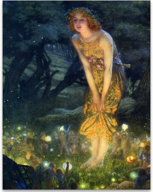 Lone Star Art Fairy Painting Neoclassical Art Print Midsummer Eve by Edward