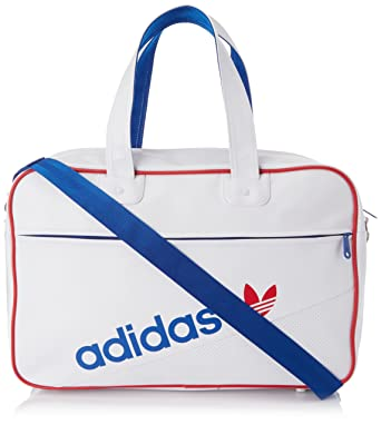 adidas Perforated Holdall Bag - White True Blue Toro 17f17a27659fd