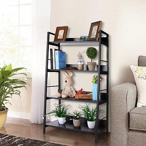 Nakey Bücherregal,eckregal schwarz wandregal Holz Metall Regal 8 Fächer für  Wohnzimmer küchenregal Badezimmer Bücher Schuhe 8x8x8cm