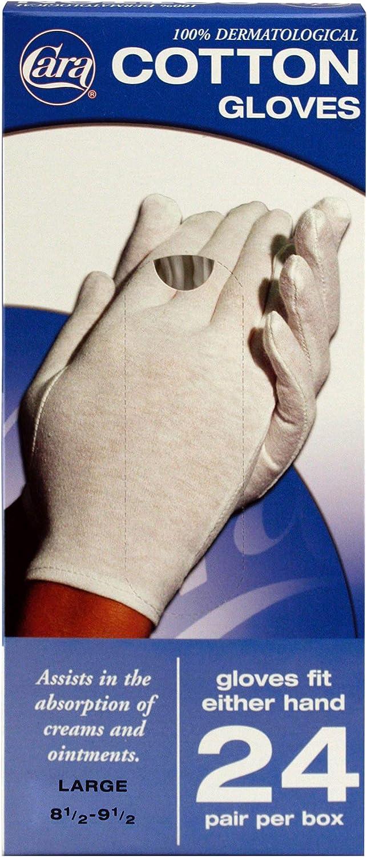 CARA Moisturizing Eczema Cotton Gloves, Extra Large, 24 Pair