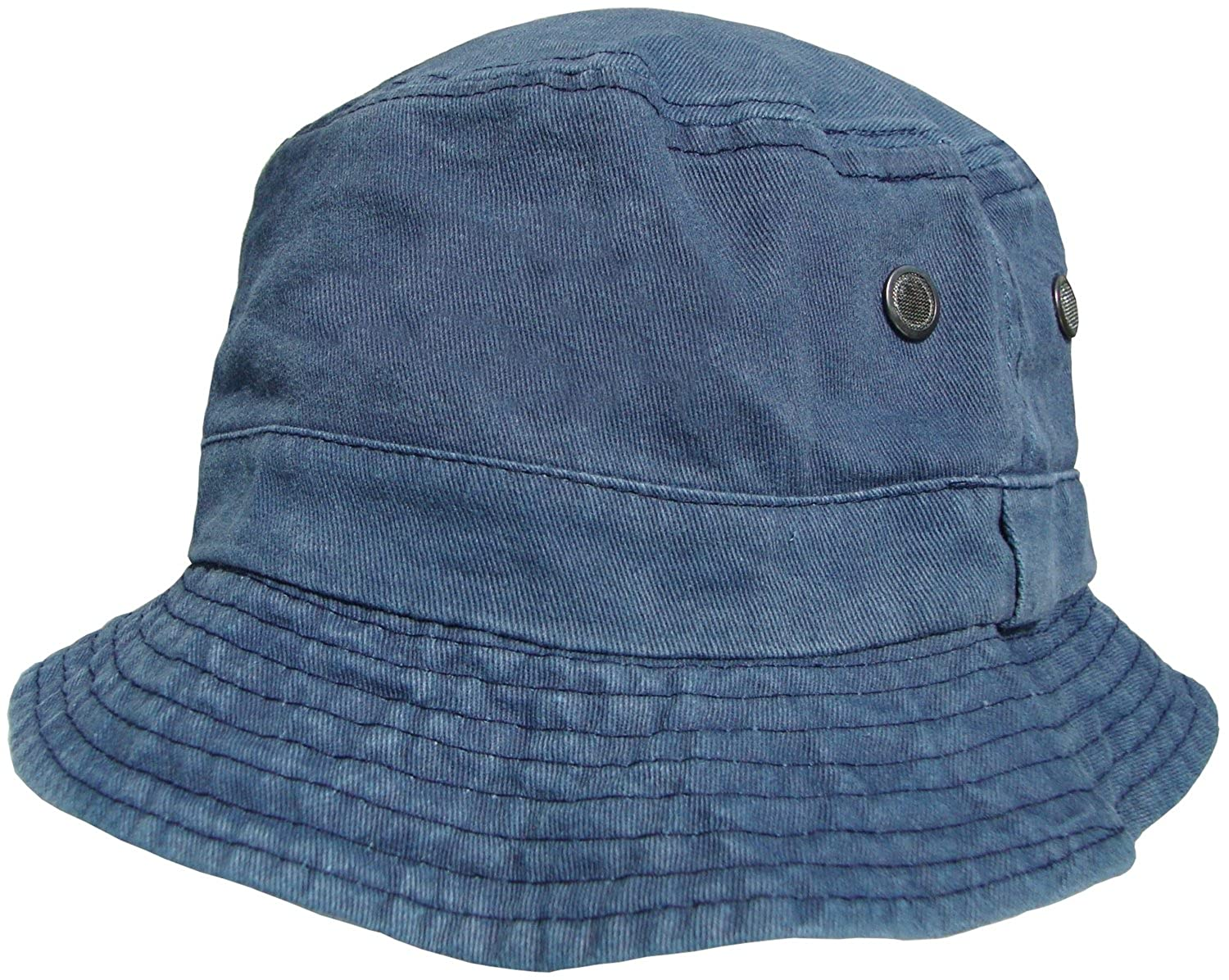 ec38dbe07695bd Mens or Womens 100% Cotton Bucket Hats Pre Washed Faded Look Bush Hat Sun  Cap: Amazon.co.uk: Clothing