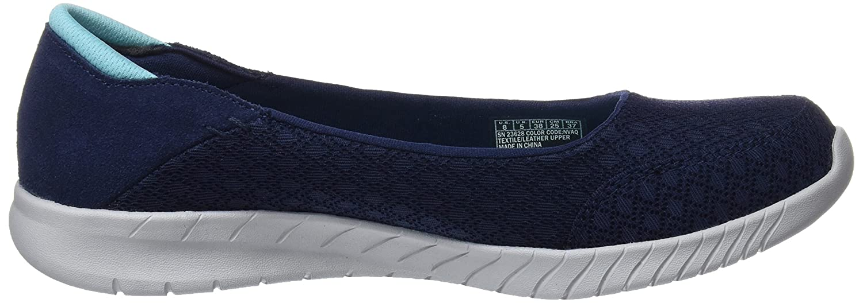 Skechers Wave Lite Don't Mention It Womens Slip On Skimmer Sneakers B076T5YTYV 7 B(M) US|Navy/Aqua