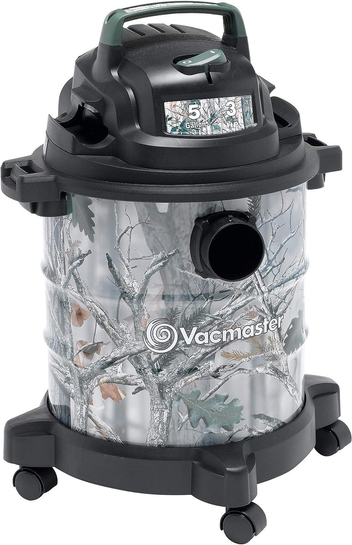 Vacmaster, VOC507S 1001, 5 Gallon 3 Peak HP Stainless Steel Game Trail Camo Wet/Dry Shop Vacuum